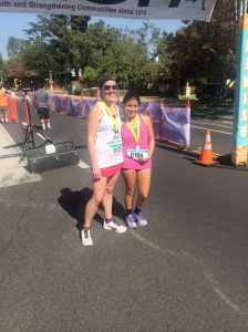 I was floored when this young lady asked for a picture together after our neck and neck race.