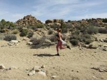 Annie running, four mile mark.