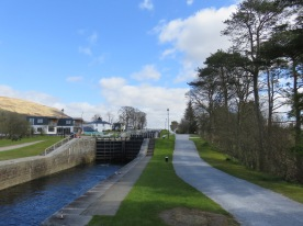 Where I started to run, at Neptune's Staircase, a lock on the Caledonian Canal.