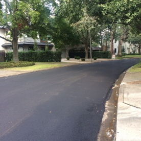 Quiet suburban streets around my place are good for running- this one had been recently paved with asphalt though, and was a bit sticky still. Resistance training! Woo!