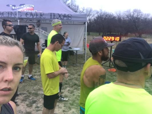 I spent the race running down yellow shirts.